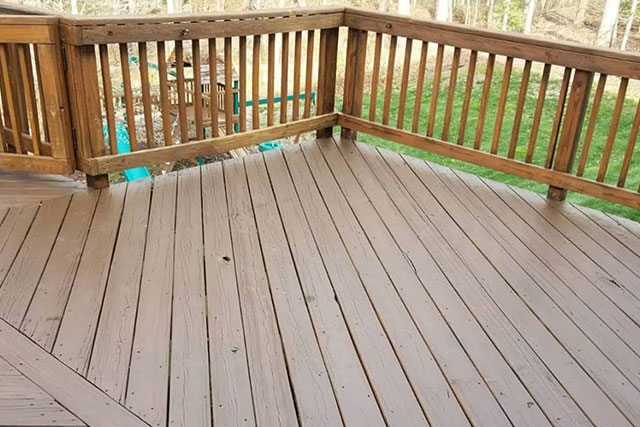 Deck with fresh paint